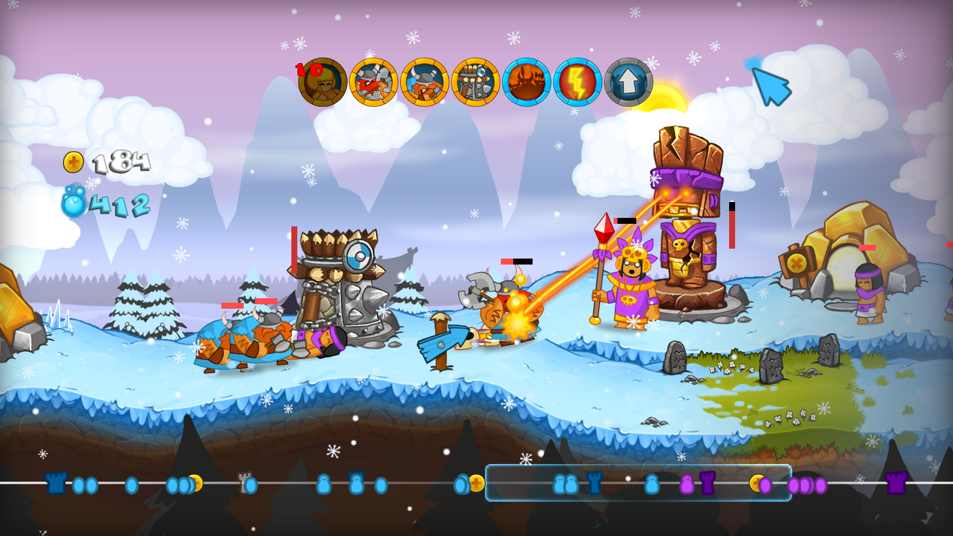 swords & soldiers - the crazy 2d sidescrolling strategy game for